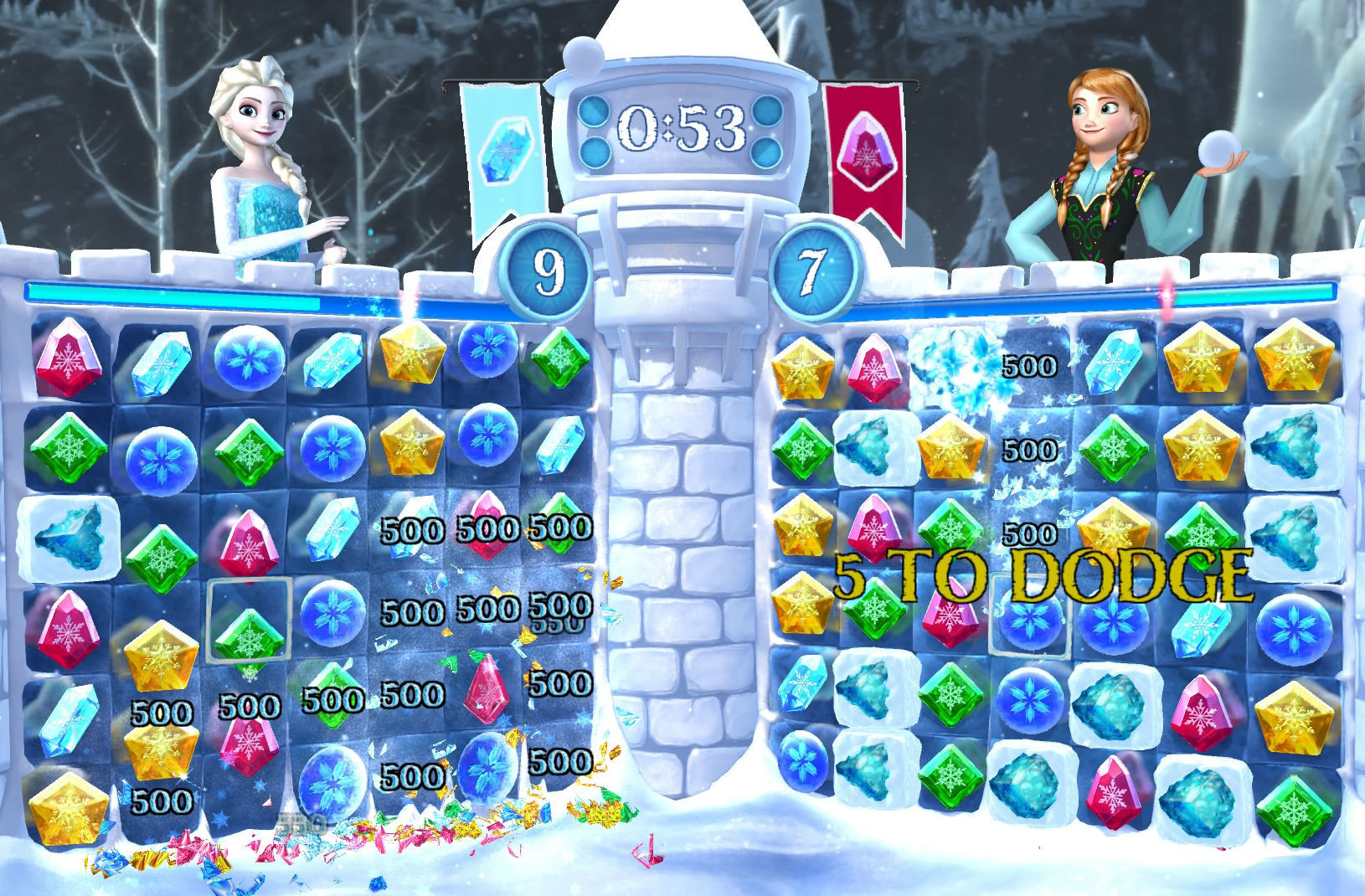 Frozen Free Fall Snowball Fight Review